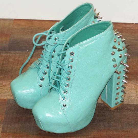 Other Vintage Brand Vintage Brand Spiked Vintage Brand Spiked Vintage Brand Steampunk Steampunk Spike Vintage Brand Tuquoise Blue Green Boots