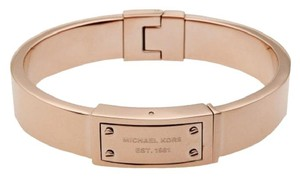 Michael Kors Astor Stud Hinge Bangle Bracelet rose gold