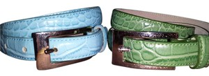 Gap 2 Leather and Silver Chrome Belts Small