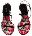 Fendi red black & white Sandals Image 0