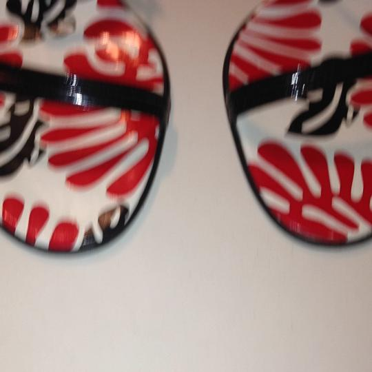 Fendi red black & white Sandals Image 2