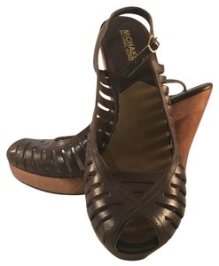 MICHAEL Michael Kors Brown Platforms