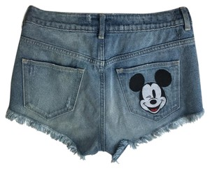 Disney Denim Shorts-Distressed