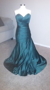 Allure Bridals Hunter Green Allure Bridal Mermaid Bridesmaid Dress