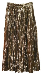 Other Party Vintage Pleated Skirt GOLD