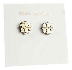 Tory Burch Tory Burch Logo Flower Two-Tone Silver and Gold