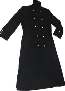 Anne Klein Overcoat Cashmere Double Breasted Tailored Pea Coat