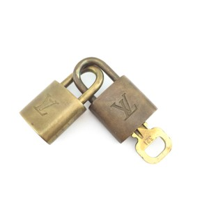 Louis Vuitton #10422 Gold Tone Brass 2 Locks key set #321 Speedy Alma Keepall bag