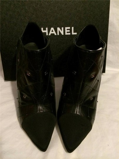Chanel Cc Quilted Black Boots Image 7