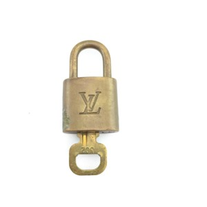 Louis Vuitton #10428 Gold Tone Brass Lock and key set #302 Speedy Alma Keepall bag