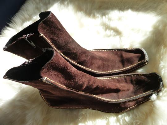 Pons Quintana Suede Chocolate Brown Boots Image 1