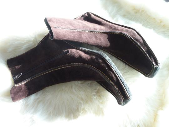 Pons Quintana Suede Chocolate Brown Boots Image 2