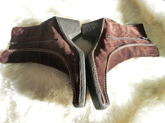 Pons Quintana Suede Chocolate Brown Boots Image 3