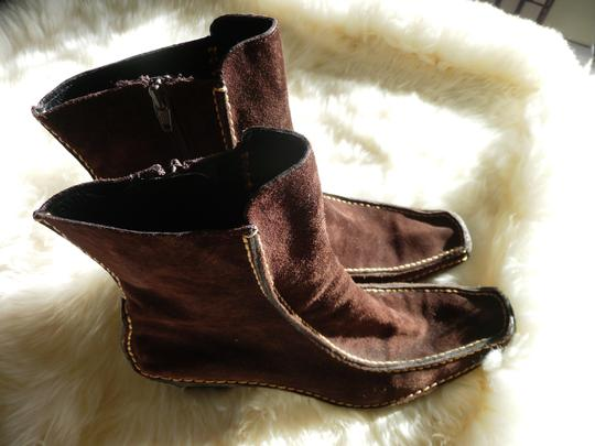 Pons Quintana Suede Chocolate Brown Boots Image 4