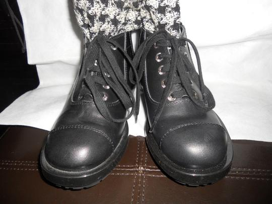 Chanel Sock Combat Check Black Boots Image 1