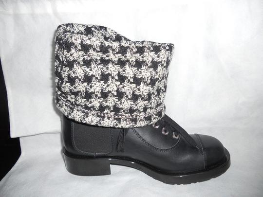 Chanel Sock Combat Check Black Boots Image 10
