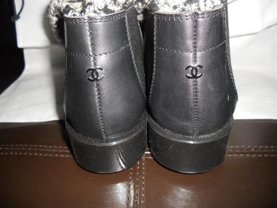 Chanel Sock Combat Check Black Boots Image 6