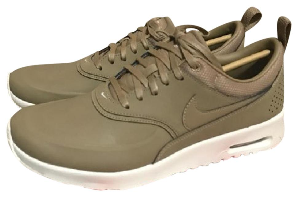 best quality wholesale newest Nike Desert Camo New Womens Air Max Thea Premium Brown Tan Sail Sneakers  Size US 8.5
