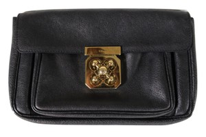 Chloé Chloe Leather Turnlock Handbag Clutch