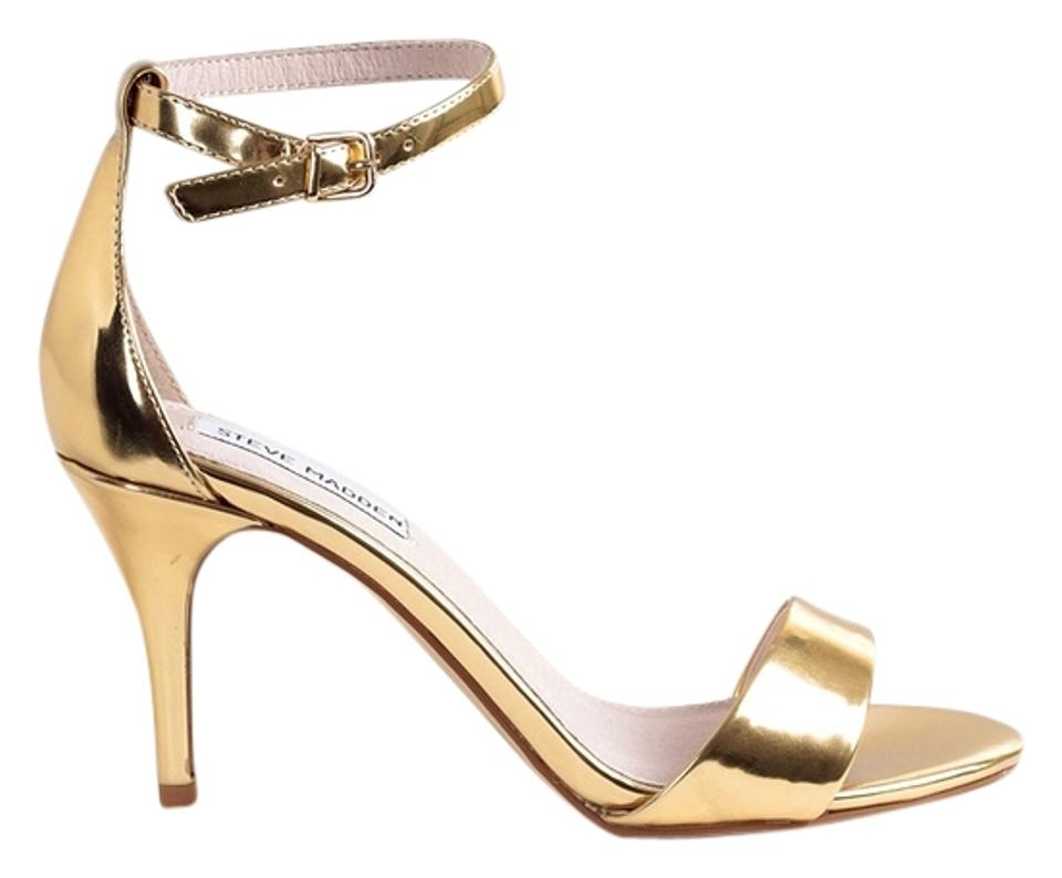 57bf854fd87 Steve Madden Stecy Sillly Heels Women s Size 9 Gold Sandals Image 0 ...