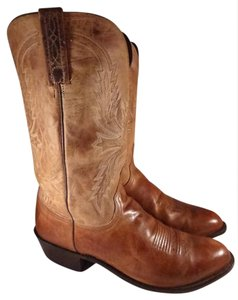Lucchese Western Cowboy Leather brown Boots