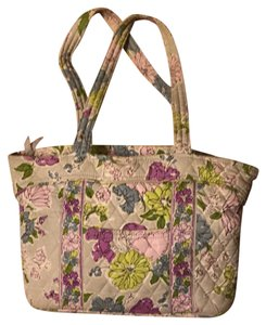 Vera Bradley Tote in grey, lilac, pastel pink, green, chambray