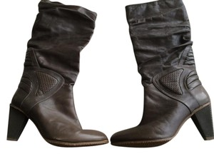 Diesel Leather Chunky Brown Boots