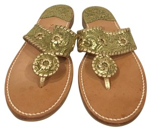 Jack Rogers Green, Gold Sandals