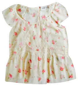 Abercrombie & Fitch Top red cream pink