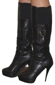 Other Belted Stiletto High Heeled Black Boots