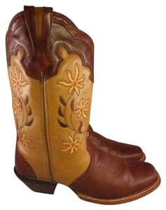 rocky Western Cowboy Floral brown Boots