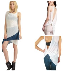 Helmut Lang Asymmetric Top White