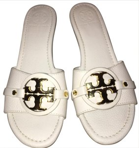 Tory Burch White/Gold Sandals