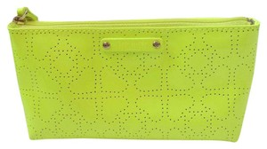 Kate Spade Electric Green Yellow Clutch