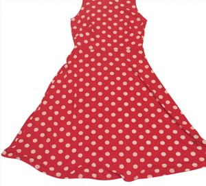 red with white polka dots Maxi Dress by Ronni Nicole