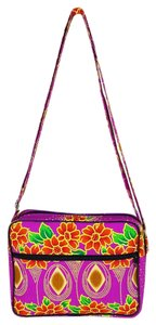 Notre Dame Cottage and Garment Industry #floral #fuschia #crossbody #notredame Cross Body Bag