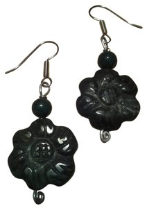 Handmade NEW Handmade Carved Flower Indian AGATE Beaded Gemstone EARRINGS Buy3Get1Free Sale!
