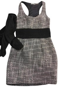 Kimchi Blue short dress White and black Colorblock Tweed Urban on Tradesy