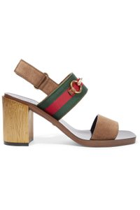 Gucci Gg Horsebit Suede brown Sandals