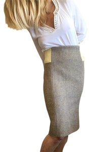 Stella McCartney Business Mid-length Dressy Skirt Beige/wheat/yellow/tweed