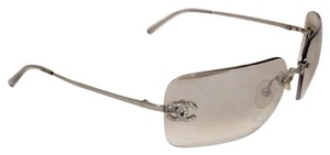 Chanel CHANEL Light Silver Sunglasses w/ Crystal CC's!