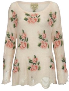 Wildfox Womens Floral Couture Sweater