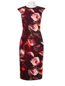 London Times Sheath Print Floral Dress