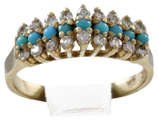 Preload https://img-static.tradesy.com/item/2071255/bhldn-turquoise-reserved-14k-solid-yellow-diamond-ring-0-0-540-540.jpg