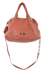 Elliott Lucca Coral Spring Leather Salmon Saks Shoulder Bag