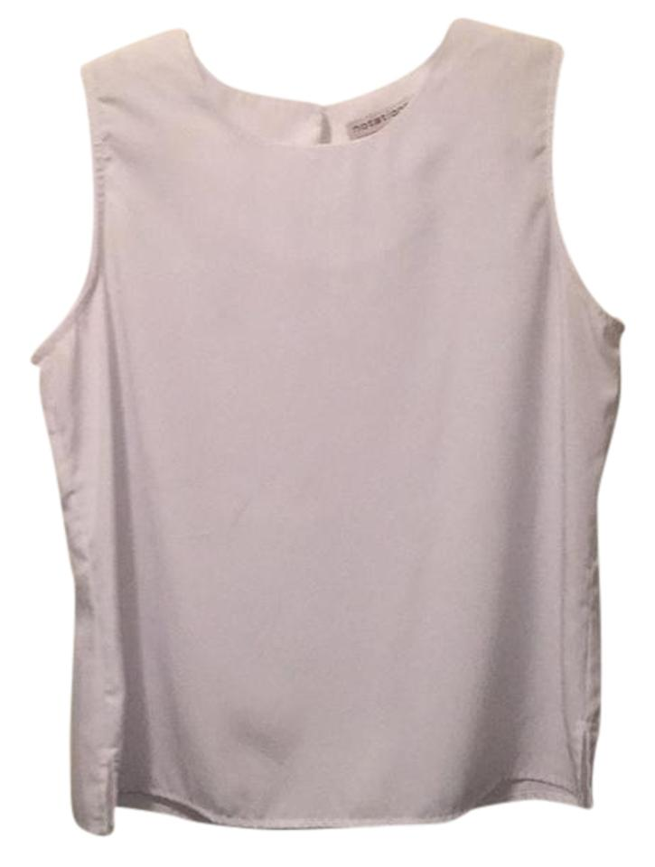 fd9d00a8c96d0 Notations White Shell Tank Top Cami Size 8 (M) - Tradesy