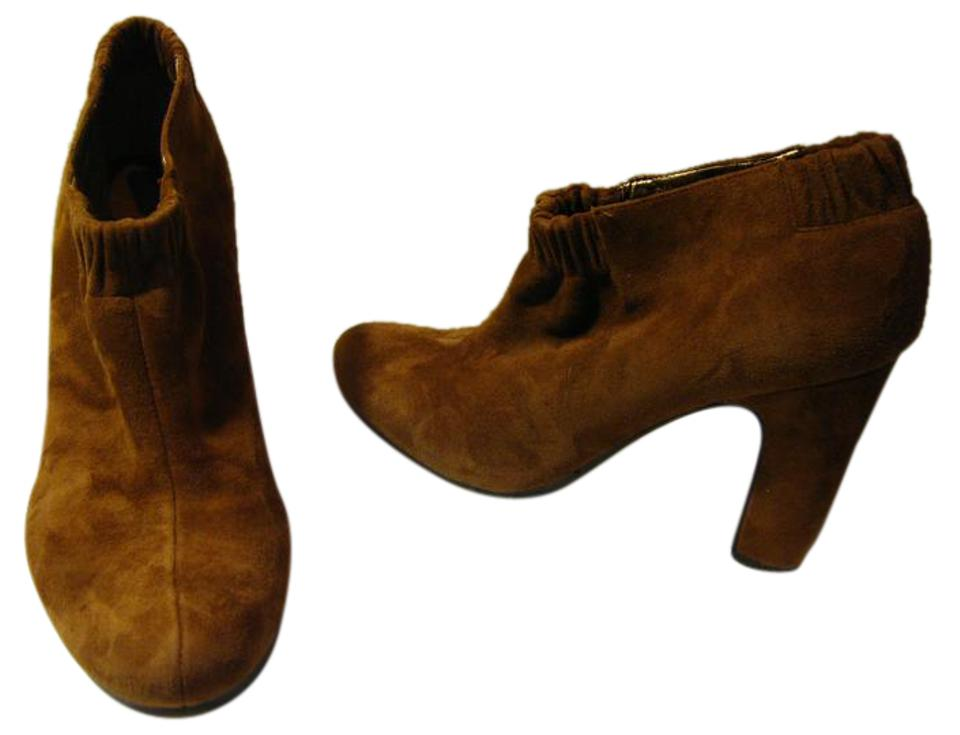 24a790810f9df8 Sam Edelman Rust Suede Ankle  elastic Band  M Boots Booties Size US ...