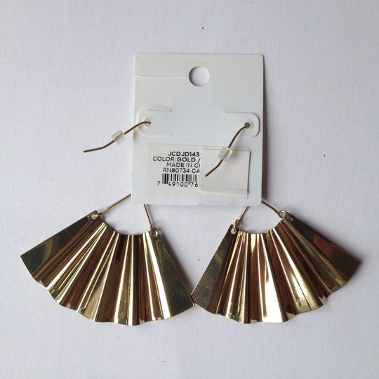 BCBGeneration gold color fan earrings Image 1