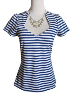Modcloth T Shirt Blue, White