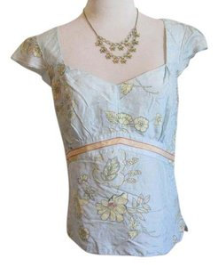 Kenneth Cole Top Multi, Blue, Cream